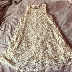 Cream dress 👗